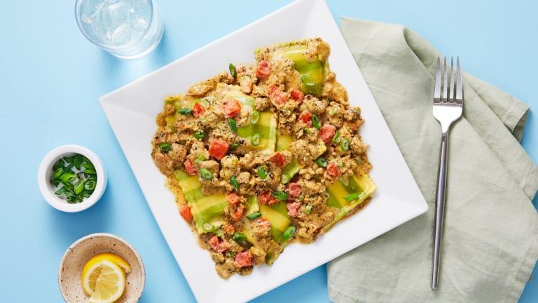 Chicken Sausage & Spinach Ricotta Ravioli