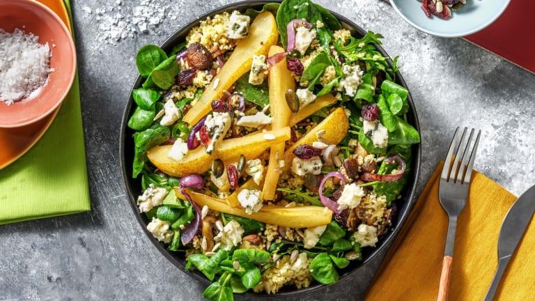 Salade de semoule complète au bleu