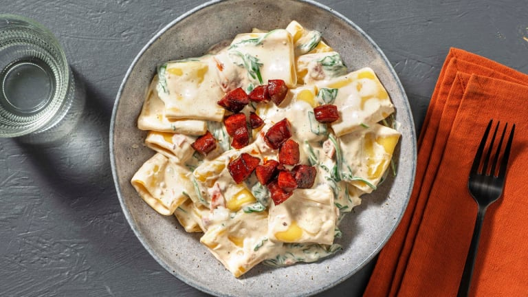 Schnelle Paccheri-Pasta mit Mascarpone