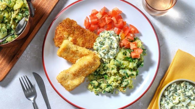 Bâtonnets de poisson maison et sauce tartare
