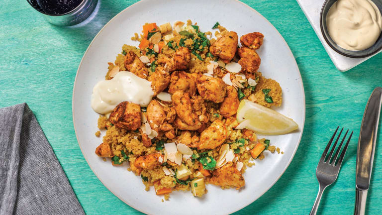 Adele's Chicken & Honey-Roasted Veggie Couscous