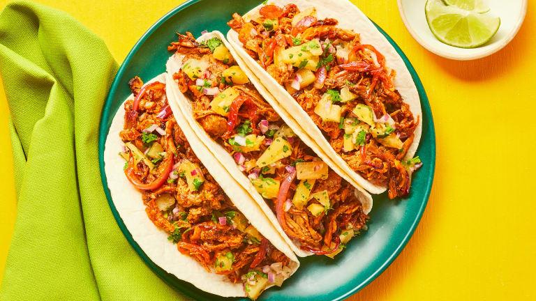 Al Pastor Pulled Pork Tacos