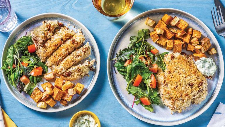 Almond & Garlic-Crusted Chicken
