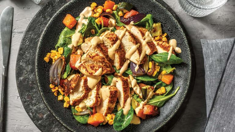American-Spiced Chicken & Roast Veggie Toss
