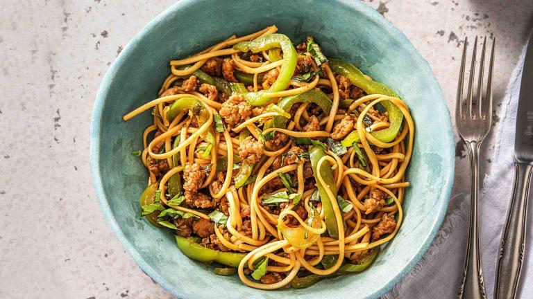 Superfast Asian-Spiced Pork Noodles