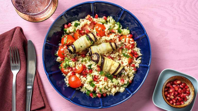 Badrijani : roulés d'aubergine à la noix