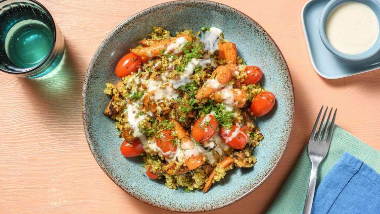 Baharat Roasted Chantenay Carrot and Sweet Potato Salad