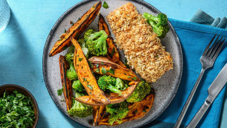 Baked Panko Crusted Salmon
