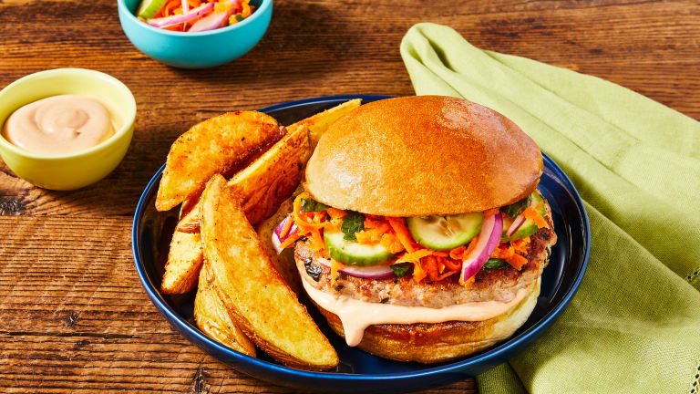 Banh Mi Style Pork Burgers