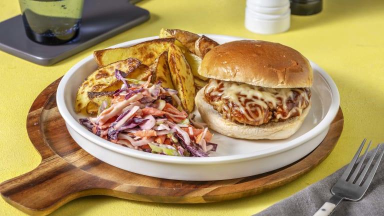 BBQ Sausage Cheeseburger