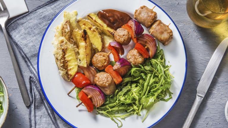 BBQ Sausage Skewers