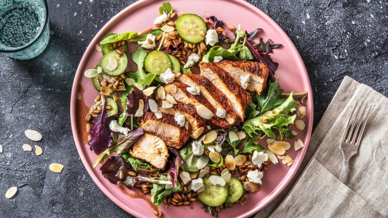 BBQ Turkey with Farro Salad