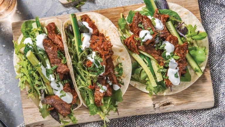 Tandoori Beef Tacos