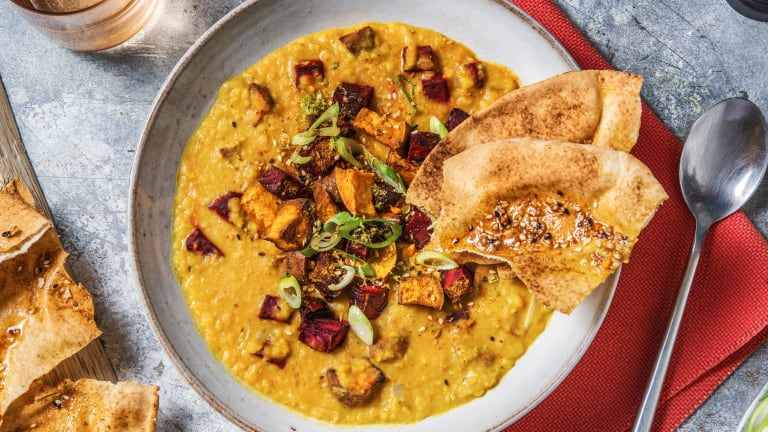 Beetroot and Sweet Potato Dal