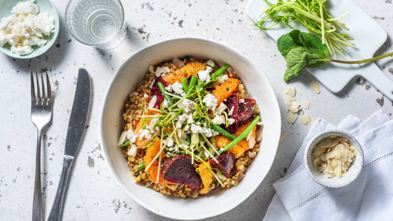 Beetroot, Green Bean and Orange salad