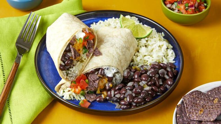 Black Bean & Blue Corn Crunch Burritos
