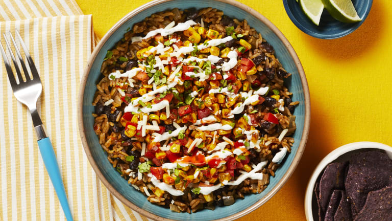 Black Bean & Charred Corn Burrito Bowls