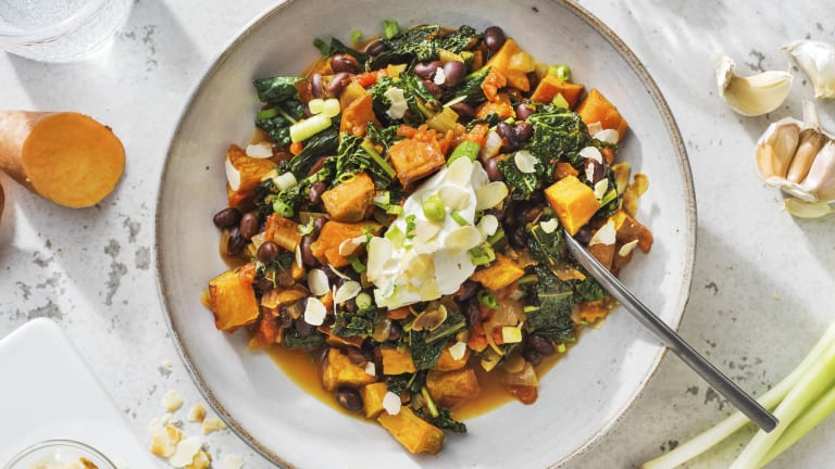 Black Bean & Sweet Potato Stew