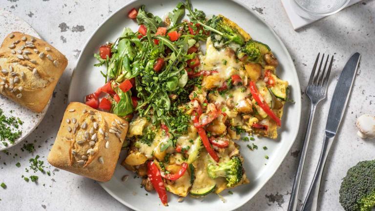 Boerenomelet met aardappel, groente en oude kaas