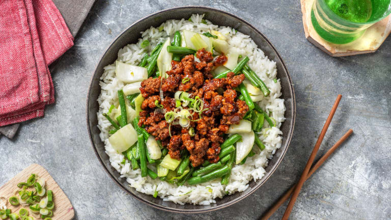 Chinese-Style Beef Bowl