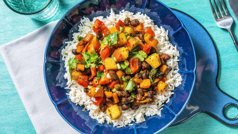 Caribbean Black Bean and Coconut Rice Bowl