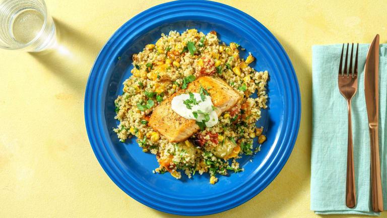 Middle Eastern-Spiced Salmon Bulgur Bowl