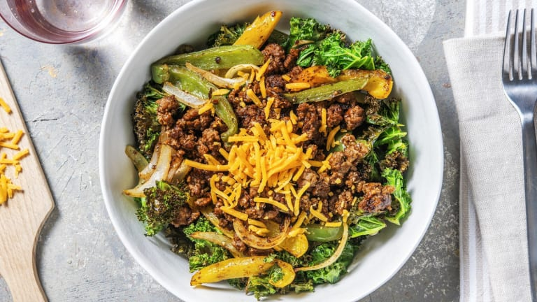 Philly Cheesesteak-Style Bowl