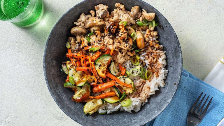 Turkey Zucchini Bibimbap Bowls