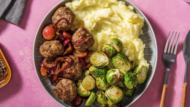 Herby Lamb Meatballs and Buttery Mash