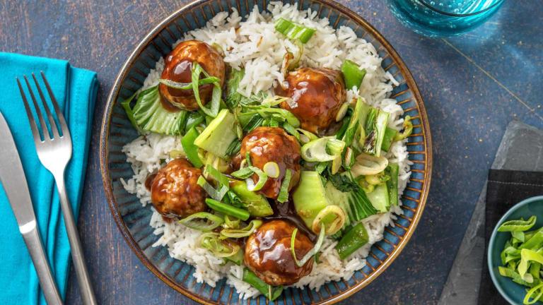 Hoisin-Glazed Pork Meatballs