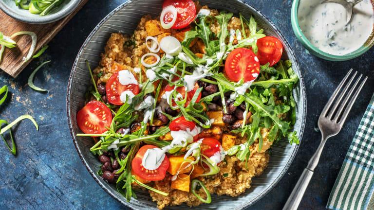 Bowl mit Petersilien-Quinoa