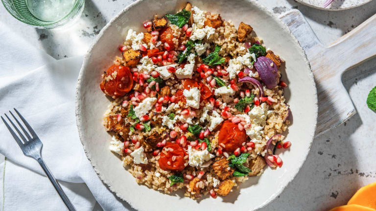 Bulgur Salad and Roasted Butternut Squash