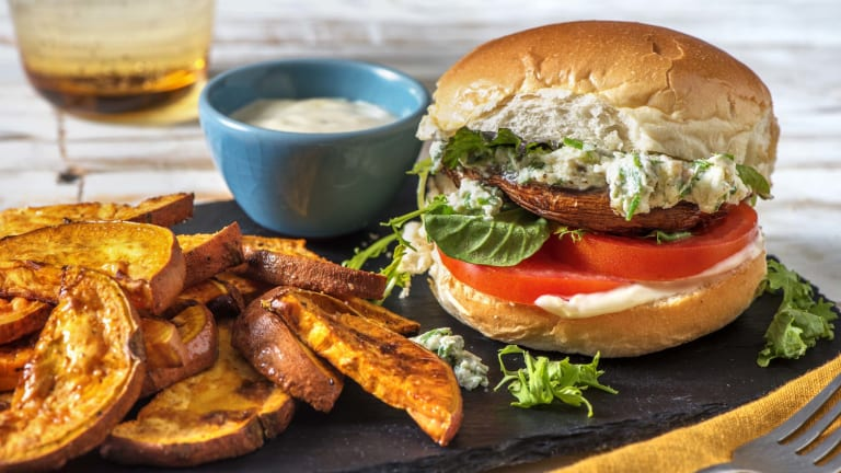 Montreal Spiced Portobello Burger