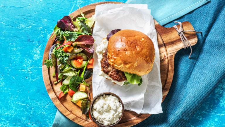 Burger grec au bœuf
