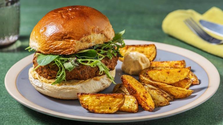 Tikka-Style Lamb Burgers