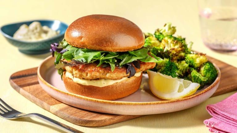 Caesar Turkey Burgers
