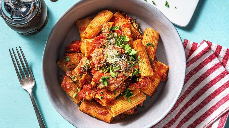 Cajun Chicken, Pancetta and Tomato Pasta