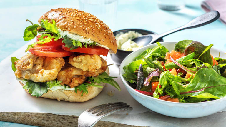 Cajun-Spiced Chicken Burger