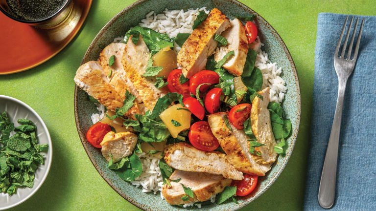 Caribbean Chicken & Coconut Rice