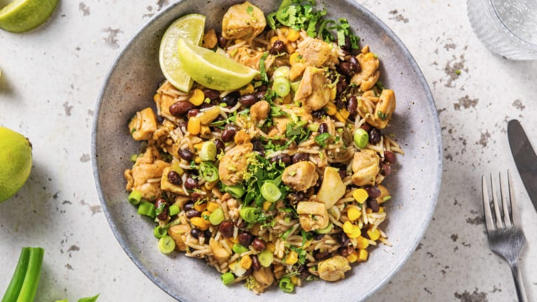 Caribbean-Style Chicken Rice Bowl