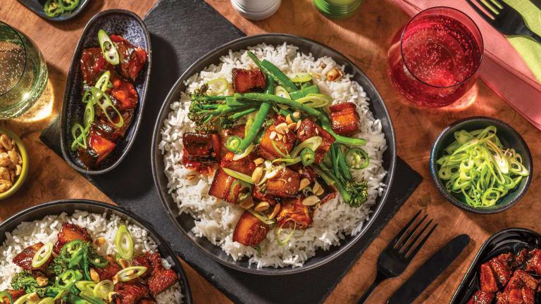 Char Siu Pork Belly & Sticky Eggplant