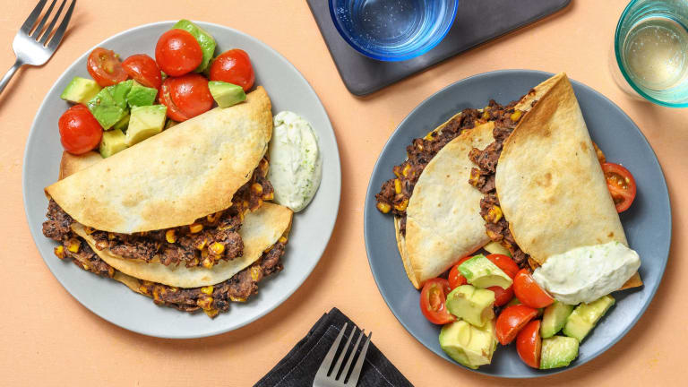 Charred Corn and Cheddar Quesadillas