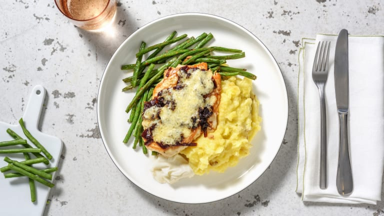 Cheese and Caramelised Onion Chicken