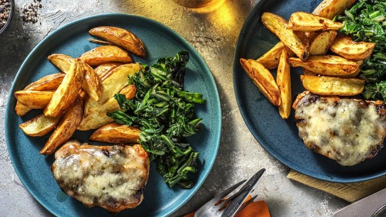 Cheese & Caramelised Onion Pork Steaks