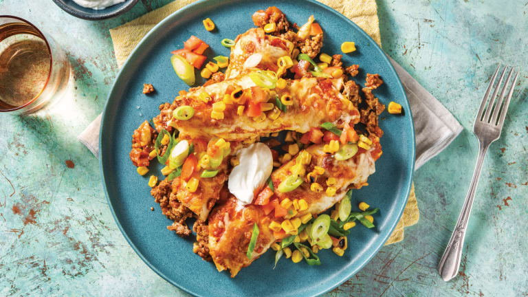 Cheesy Mexican Beef Enchiladas
