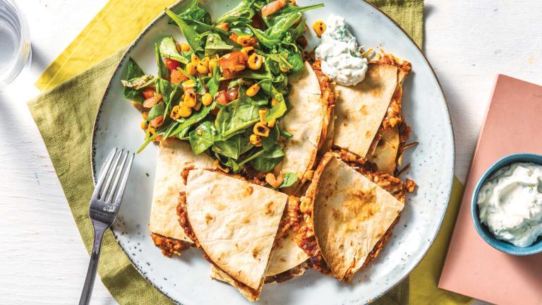 Cheesy Mexican Lentil Quesadillas