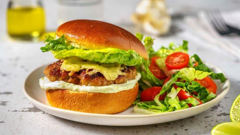 Cheesy Mexican Style Pork Burger