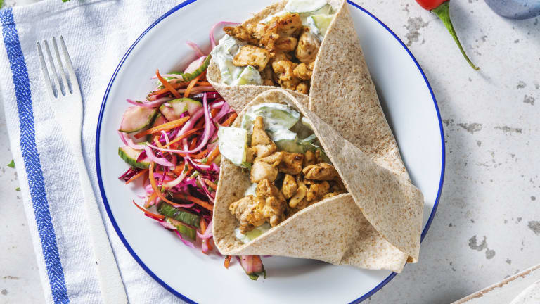 Chermoula Chicken Wraps