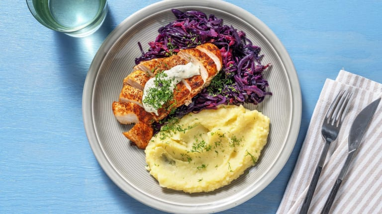 Chicken and Braised Cabbage