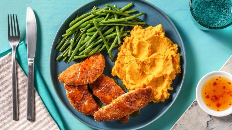 Chicken and Sage Sweet Potato Mash